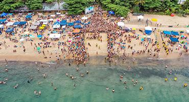 Beach swim event