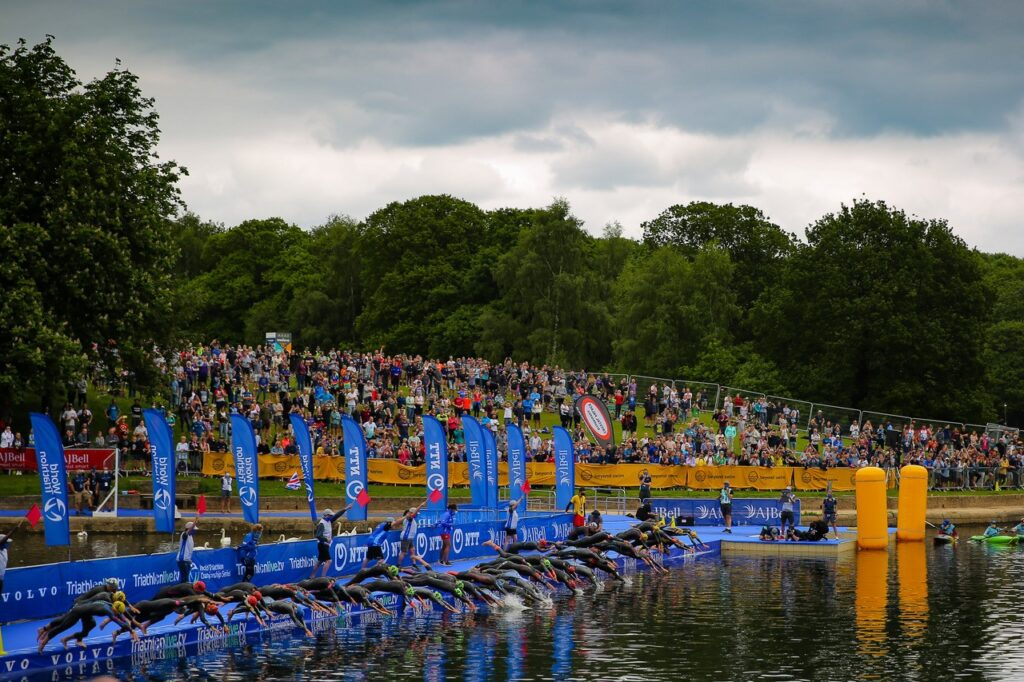 World Triathlon event swimming
