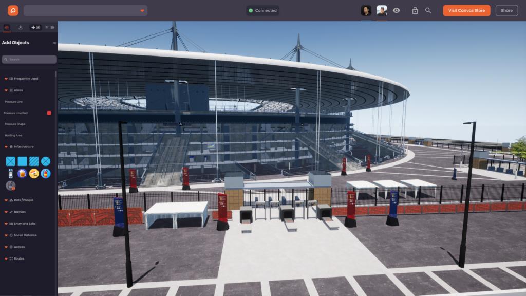 Venue Twin stadium exterior